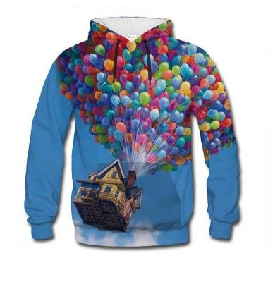 Have you ever dreamed of flight? With this jumper, you'll be one step closer to fulfilling your fantasy. Stop looking down, look up! Disclaimer: balloons not included. www.bittersweetclth.com