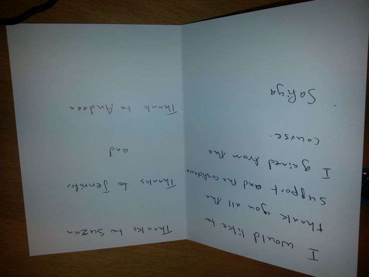 A beautiful surprise: One of our lovely participants gave Y&T Team a nice Thank You card.