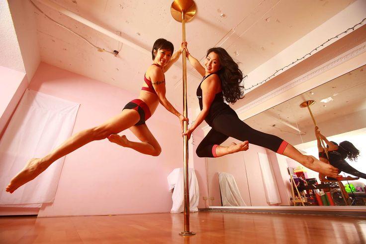 Crystal Lai & Natasha Wang on the 45mm Titanium Gold Xpert #xpole #xpolelife