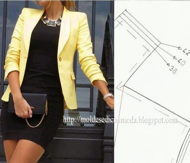Tutorial & Free Pattern for Blazers - I've seen this yellow blazer everywhere lately... time to make it happen