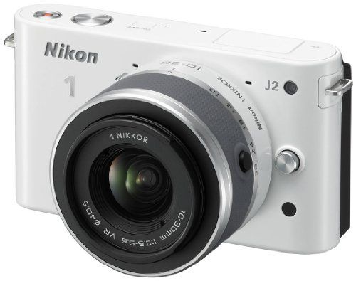 Nikon 1 J2 Compact System Camera with 10-30mm Lens Kit – White (10.1MP) 3 inch LCD