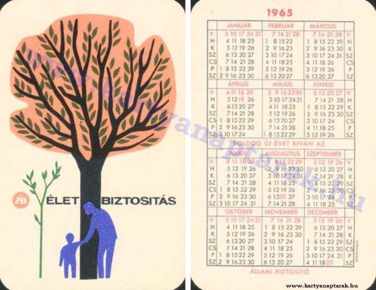 1965 - 1965_0181 - Régi magyar kártyanaptárak