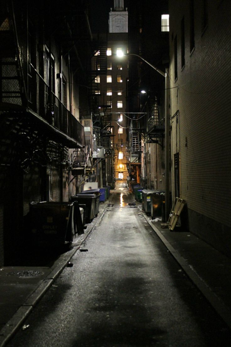 Just a picture of an alleyway, but I think of Gotham City ...
