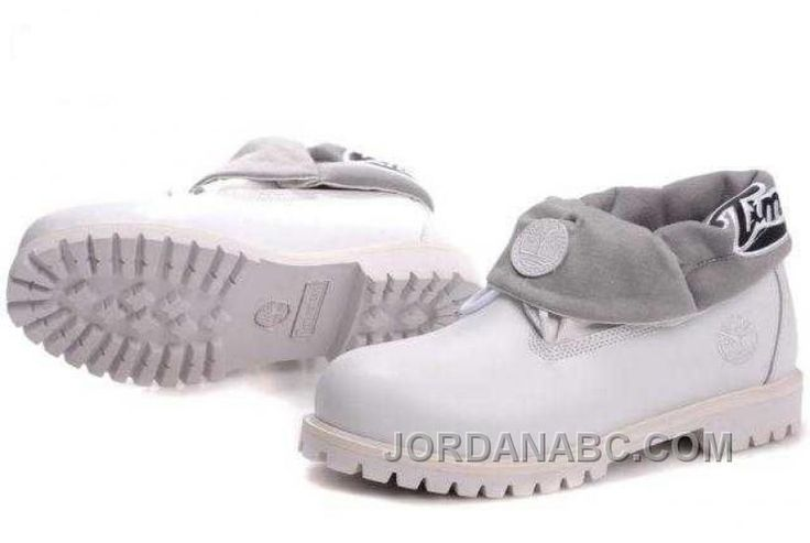 http://www.jordanabc.com/timberland-roll-top-with-white-boots-for-mens-on-sale.html TIMBERLAND ROLL TOP WITH WHITE BOOTS FOR MENS ON SALE Only $103.00 , Free Shipping!
