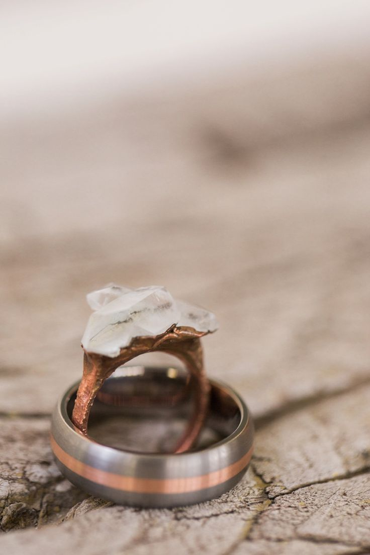 VALORIE DARLING PHOTOGRAPHY» Unique wedding bands, unique engagement ring, crystal engagement ring, copper wedding bands, rings Wedding Rings + Invites - VALORIE DARLING