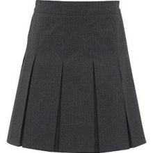 box pleated skirt...I wore these in the 60's. Skirts like these in grey and a white long sleeved blouse was our high school uniforms.