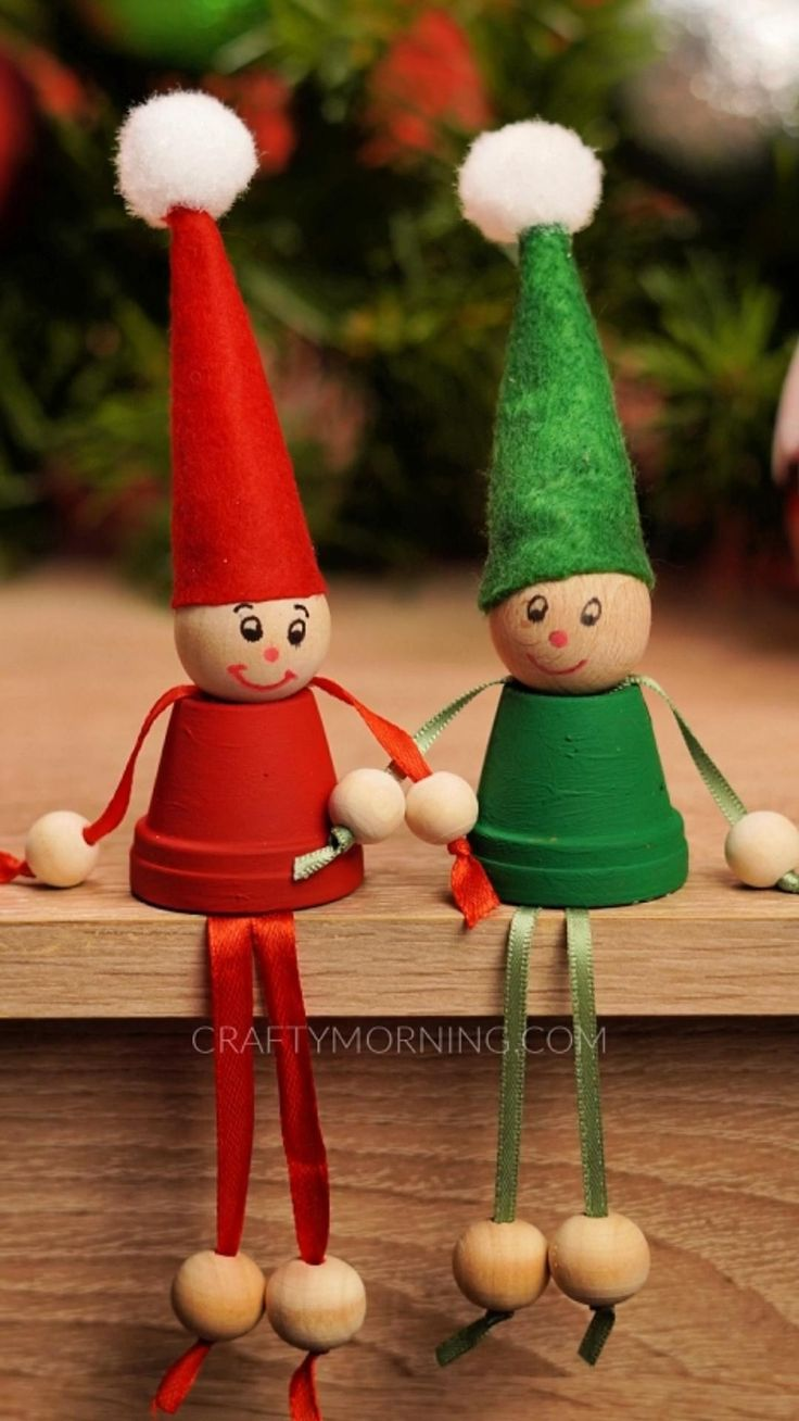 Sitting Mini Flower Pot Elves [Video] in 2020 Christmas