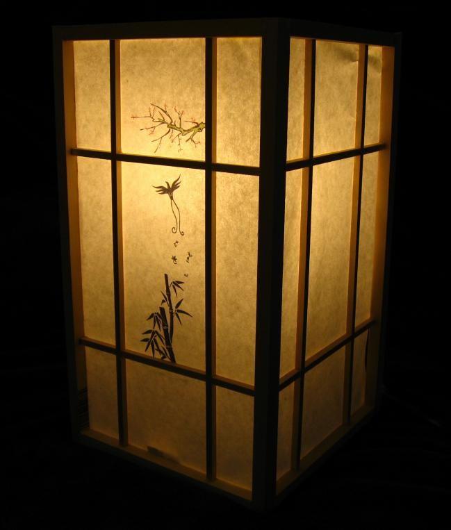 Lampara japones others pinterest estilo japon s - Lamparas estilo japones ...