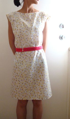Dress made from a pillowcase. A very big pillowcase I think!