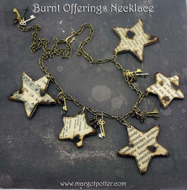 iLoveToCreate Blog: iLoveToCreate: Burnt Offerings Decoupage Necklace