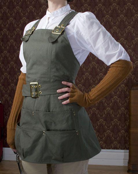 Professor Hazel Sterlingwood in clothing suitable for the workshop.