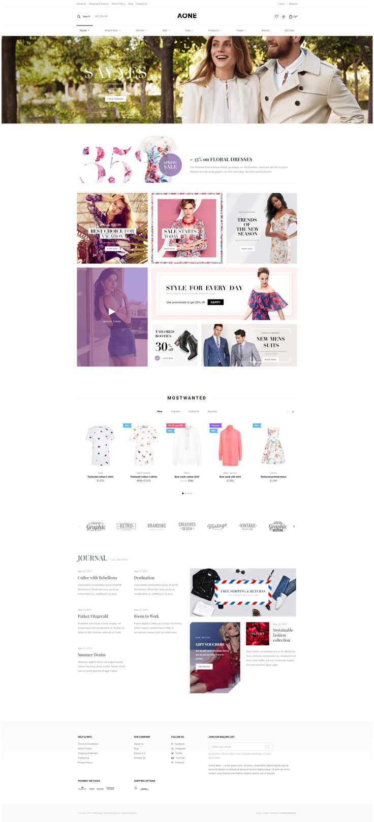 A-One is a powerful #e-commerce #theme for #WooCommerce. A-One has lots of built in premium features like header/footer builder, product builder, ajax filters and actions. A-One can be used for selling almost anything – electronics, fashion store, clothing shop, accessories, shopping digital, gadgets and other. #website #wordpress #design