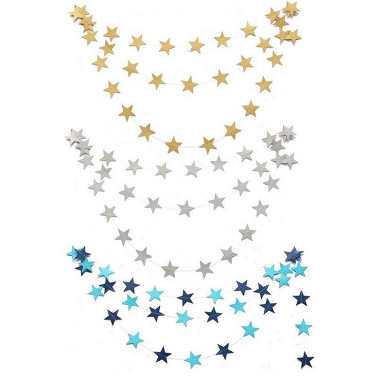 Купить товар2016 новый 4 м бумажные гирлянды на день рождения свадьба свадебная ну вечеринку дверь номера фестиваль звезда украшения золото синий в категории  на AliExpress.    Тип элемента украшения    Материал бумага    Количество 1 шт.    Длина: около 4 м    Цв