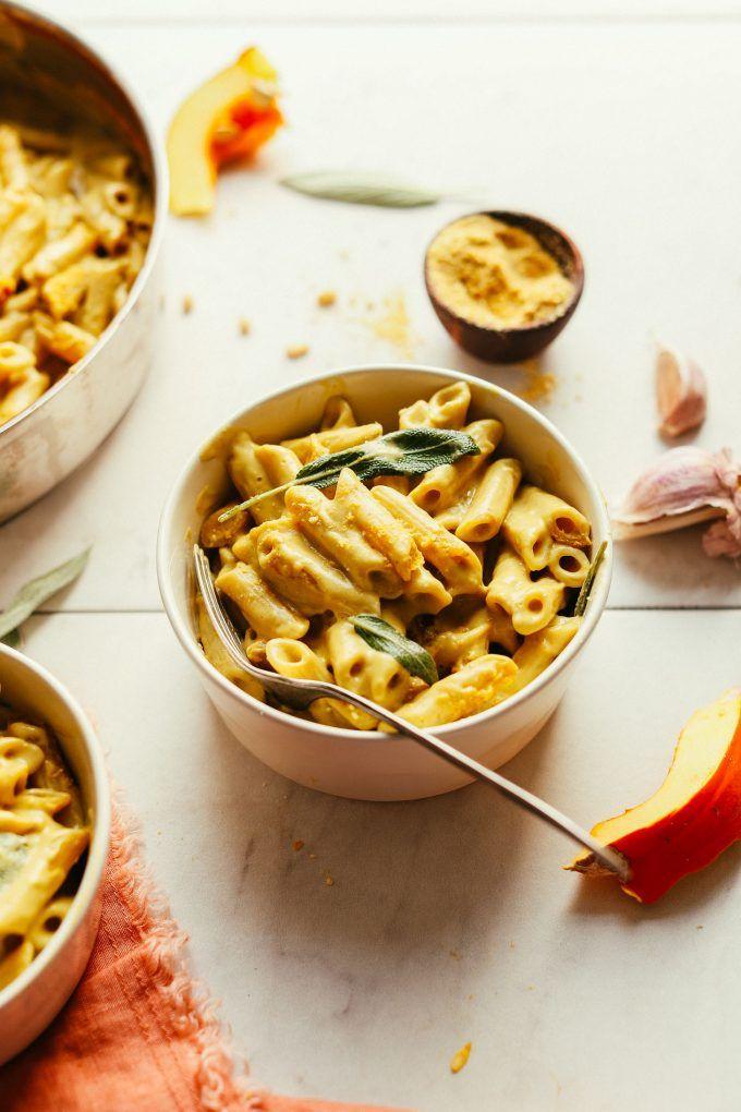 Vegan Pumpkin Mac N Cheese Minimalist Baker Recipes Recipe Pumpkin Mac And Cheese Vegan Pumpkin Baker Recipes