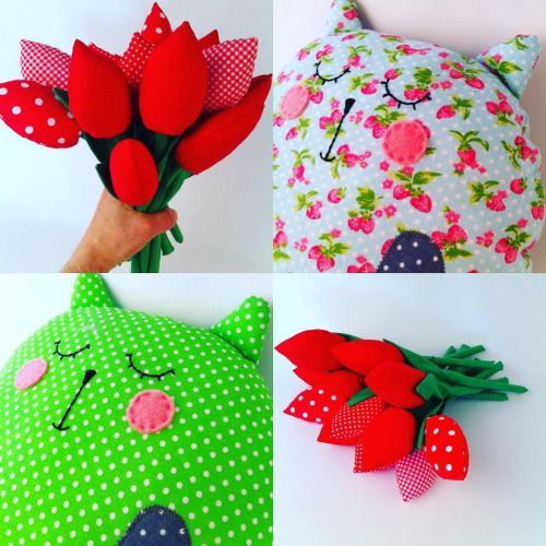 Flowers for cats? Or cats for flowers  #sewingforkids  #handmadewithlove   #musthave  #musthaves    #birthdaygift #handmadegifts   #giftideas #giftsforkids  #etsy  #etsyseller  #etsyshop   #toy  #toys #softtoy #handmadetoy  #plush #plushie #mascotte #stuffedanimals  #teddybear #flowers #tulips #cats #cat #cattoy