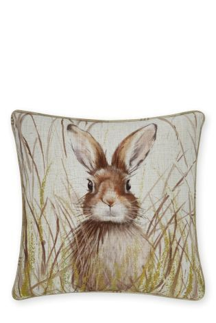 Buy Hare Print Cushion from the Next UK online shop