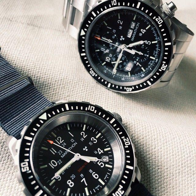 A Marathon #watch duo the CSAR #chronograph and TSAR divers