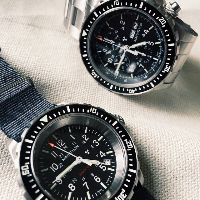 A Marathon #watch duo the CSAR #chronograph and TSAR divers