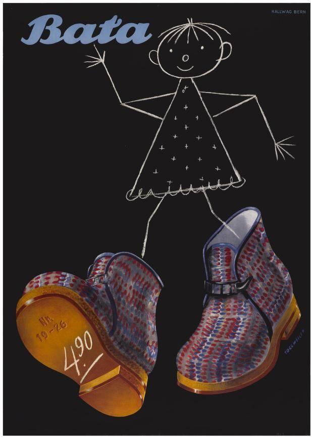 Bata, Karl Toggweiler, 1943 #batashoes #bata120years #advertising
