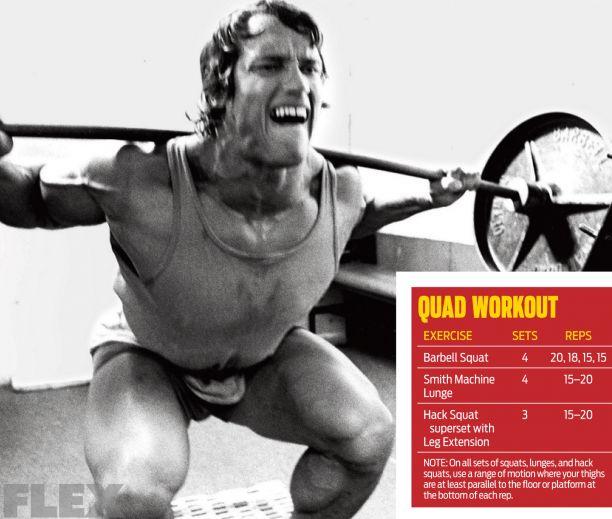 Arnold Schwarzenegger's leg workout tip to MAXIMIZE quads