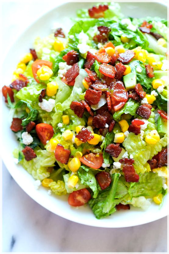 BLT Chopped Salad (the Lime Vinaigrette sounds really good)