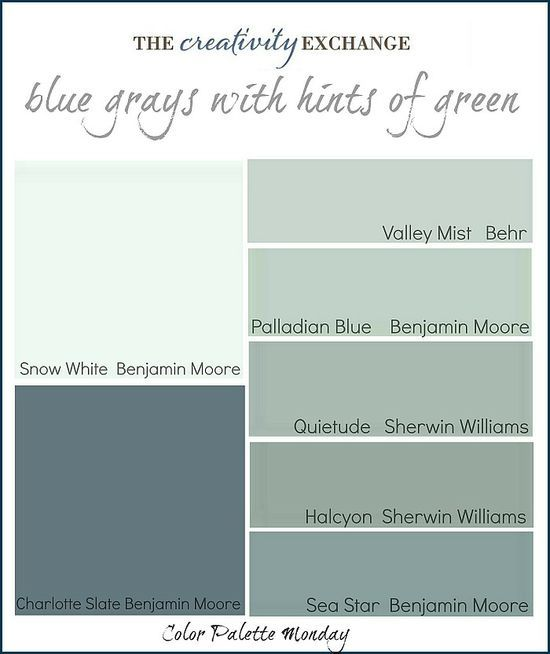 Beautiful Blue grey paint Colors by Sherwin Williams.