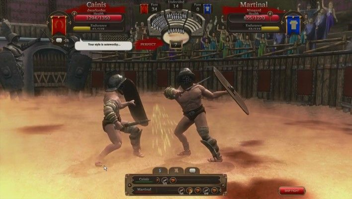 Gladiators Online [Death Before Dishonor] is a Free to play Combat management MMO blood sport Game that makes players the owner of a gladiator team in ancient Rome