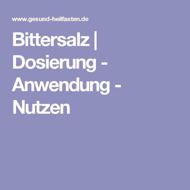 Bittersalz | Dosierung - Anwendung - Nutzen