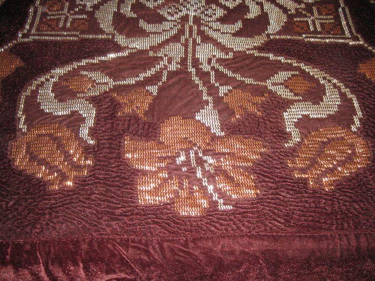 tel kırma yatak örtüsü detayları