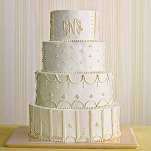 Uniquely Southern Wedding Cakes   Monogrammed Wedding Cake   SouthernLiving.com