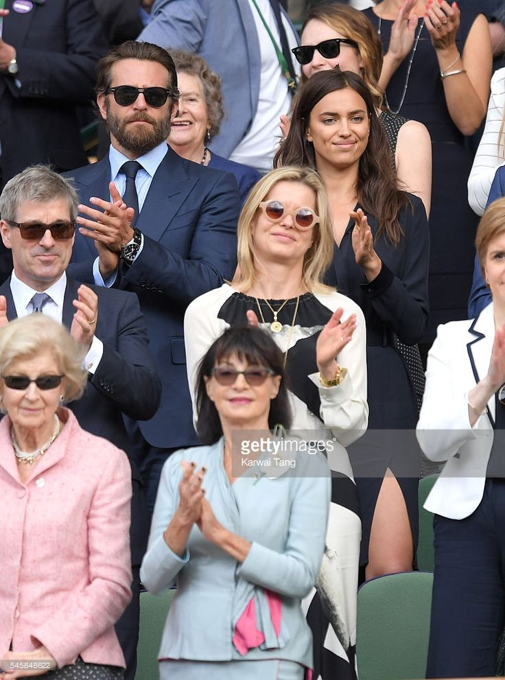 7/10/16*Lady Helen Taylor and her husband Tim Taylor. In the front row is Princess Alexandra of Kent.Also, Bradley Cooper and Irina Shayk attend the Men's Final of the Wimbledon Tennis Championships between Milos Raonic and Andy Murray at Wimbledon on July 10, 2016 in London, England.