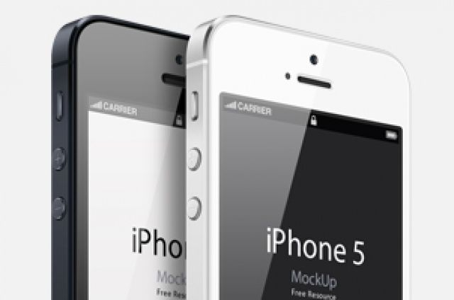 Our new three-quarter view iPhone 5 vector mockup template is a fully-scalable vector shape iPhone 5 psd. We have created a...