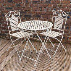 Trend Ellister Gibraltar Iron Armchairs cm Circular Patio Set