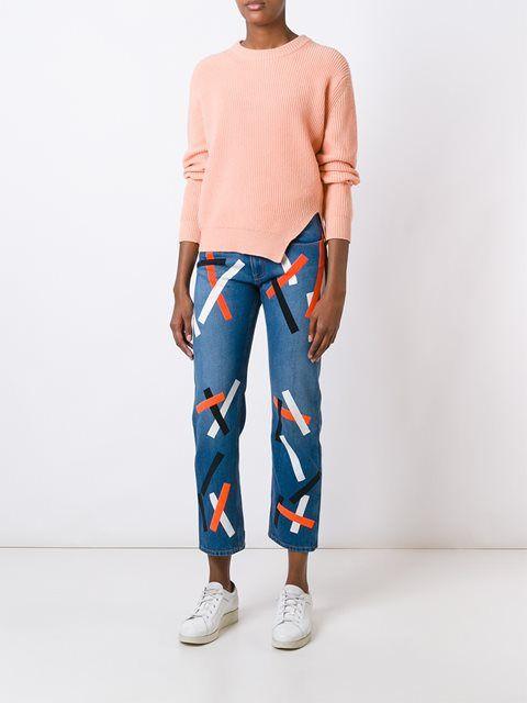 Christopher Kane джинсы с абстрактным принтом