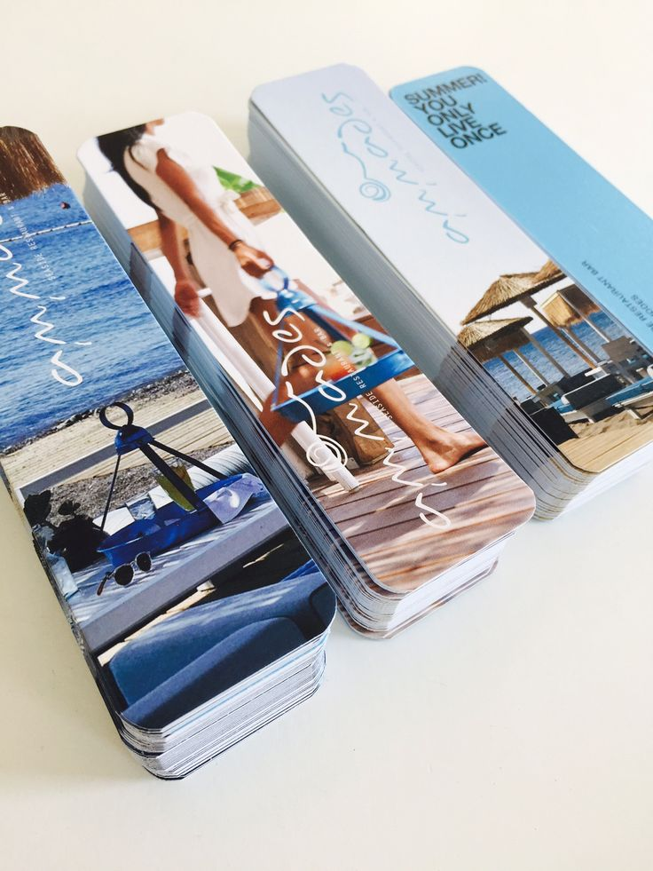 Smart design page markers for Ammades Seaside Restaurant & Bar!