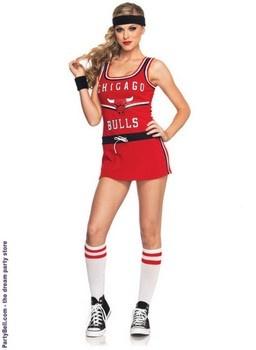 NBA Chicago Bulls Cheerleader Adult Costume  $40.64
