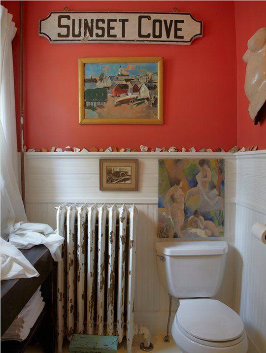 paint color portfolio coral bathrooms