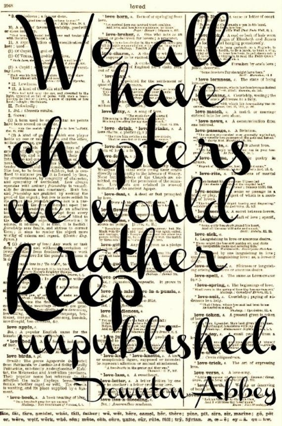 We all have chapters we would rather keep unpublished.  **sigh** some of us more than others.
