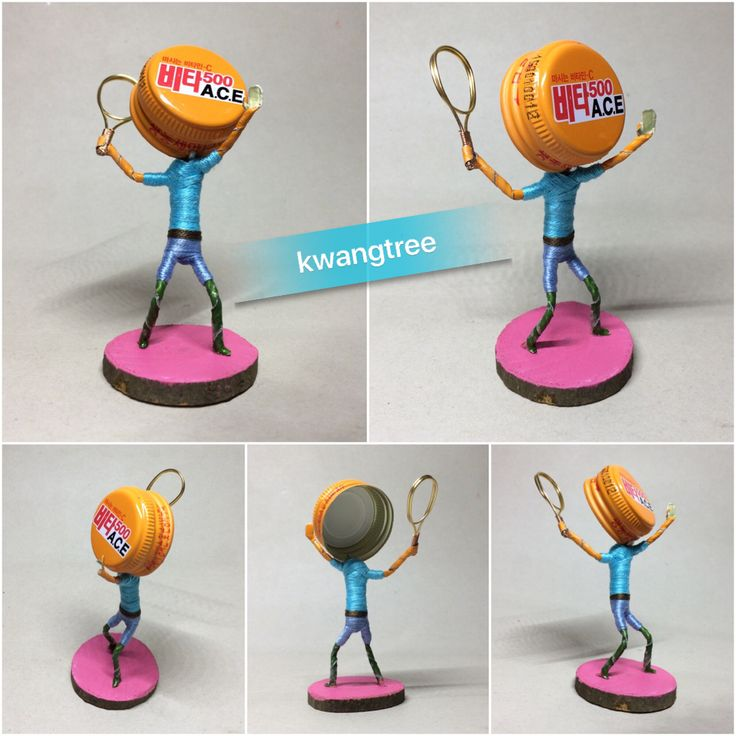 테니스 (3) #병뚜껑공예 #병뚜껑아트 #뚜껑맨 #BottleCapArt #BottleCapCrafts #瓶盖艺术 #瓶盖人 #ビンの栓芸術 #피규어 #Figure #フィギュア #人偶 #手办 #미니어쳐 #Miniature #小模型 #ミニアチュア #테니스 #Tennis #网球 #テニス #광동제약 #비타500 #ACE