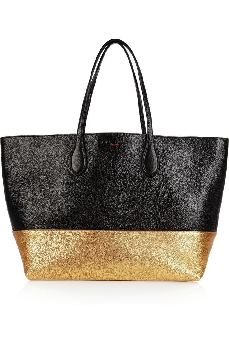 Rochas | Two-tone textured-leather tote | NET-A-PORTER.COM