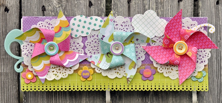 Summer Pinwheels | #ScrapbookSteals Pinspiration Giveaway!
