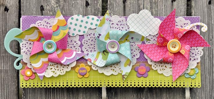Summer Pinwheels | #ScrapbookSteals Pinspiration Giveaway!