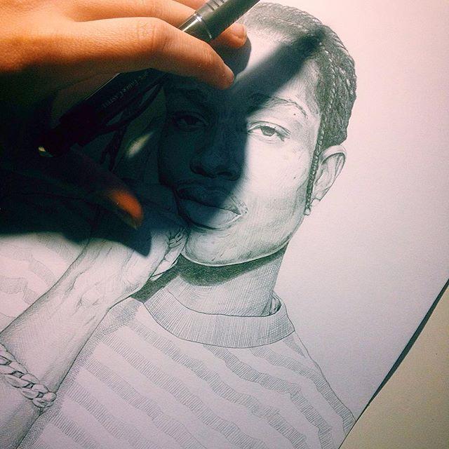👁#drawing#sketch#draw#pencil#mechanicalpencil#graphite#portrait#illustration#thedailysketch#sketchbook#stripedshirt#fabercastell