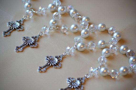 Hermosos decenarios de cristales y cruz de San Benito- Recuerdos de tu evento (20 piezas)