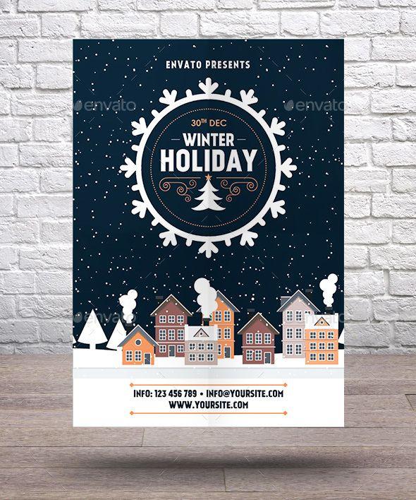 22 Best Winter Flyer Images On Pinterest Flyer Template Ai
