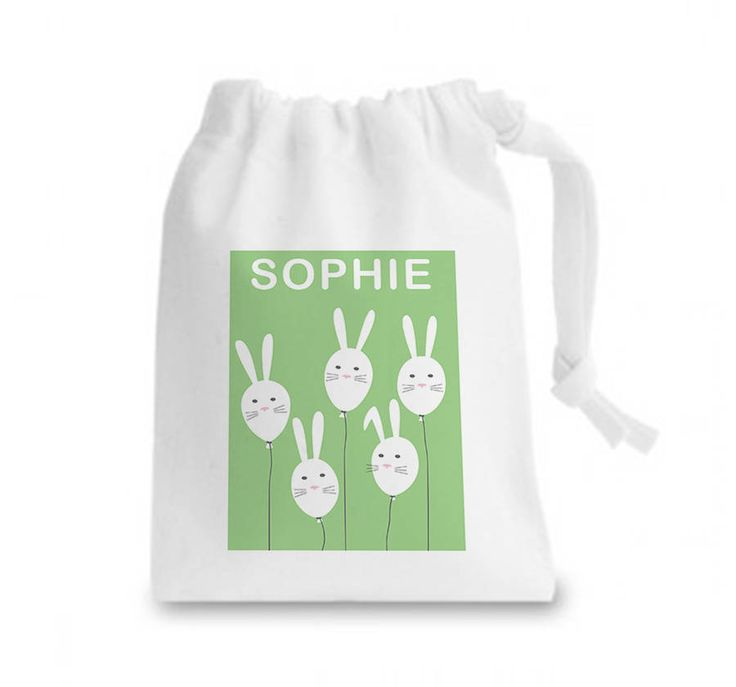 45 best easter holidays images on pinterest easter holidays bunny balloons personalised easter gift bag negle Choice Image