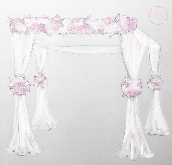 #Romantic #chuppah #sketch by #bride&blossom