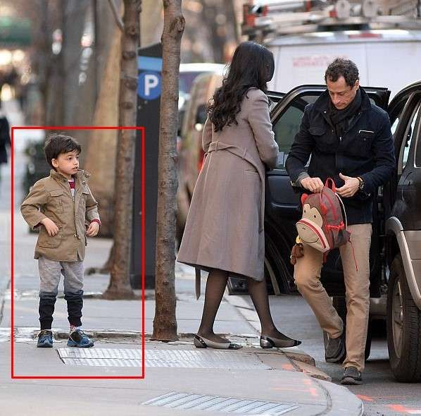 Huma Abedin and Anthony Weiner's son Jordan together pictures