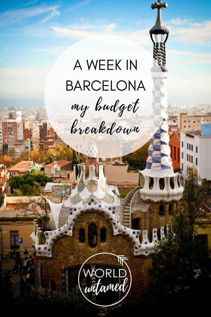A Week in Barcelona Budget Breakdown Spain