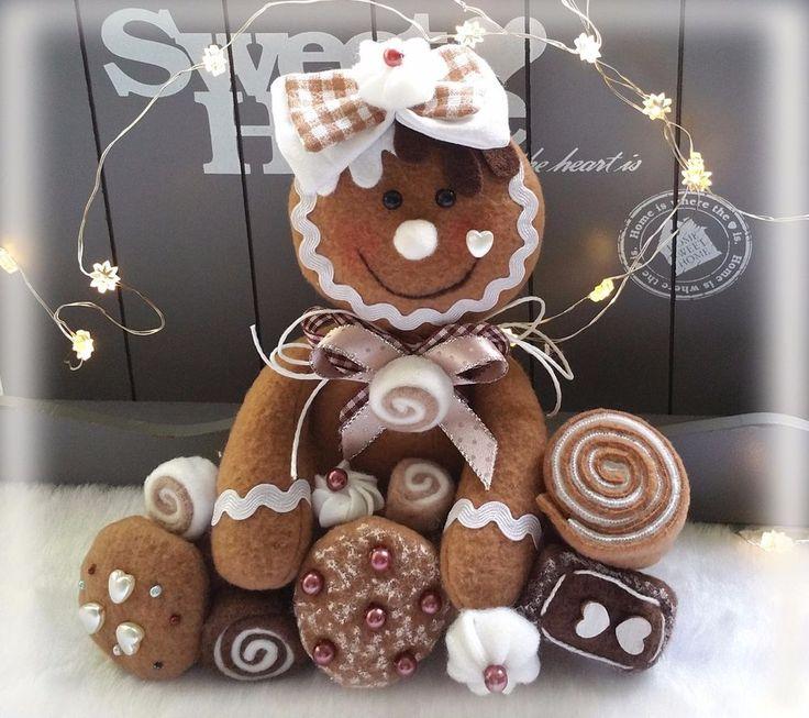 Lebkuchenfrau♡Lebkuchen♡Cookies♡Tilda Impressionen♡Landhaus♡Weihnachten♡Winter♡ | eBay
